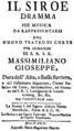 Tommaso Traetta - Il Siroe - italian titlepage of the libretto - Munich 1767.png