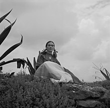 Toni Frissell - Frida Kahlo, seated next to an agave.jpg