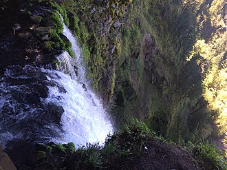 Multnomah Falls - Image: Top of Multnomah Falls April 2015
