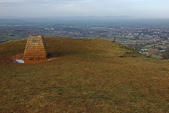 Leckhampton Hill and Charlton Kings Common - Image: Toposcope on Leckhampton Hill geograph.org.uk 654244