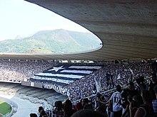 La tifoseria del Botafogo all'interno del Maracanã.