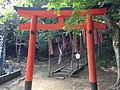 Torii on sando for Maruyama Shrine in Oasahiko Shrine.JPG
