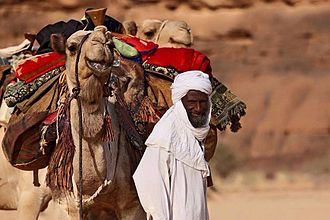 Toubou people - Toubou man travelling in the desert