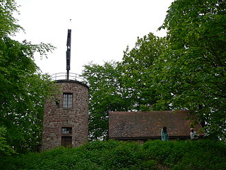 Semaphore telegraph - A Chappe semaphore tower near Saverne, France