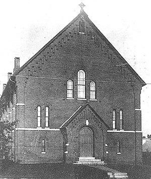 Towson United Methodist Church - Towson Methodist Episcopal Church, built in 1871