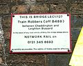 Train Robbers Bridge Network Rail plaque.jpg