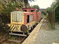 Train at Lllanerch-y-Medd station.JPG