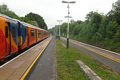 Train at Stoneleigh Station.JPG