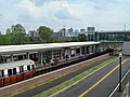 Trains at Assembly station from north headhouse, September 2014.JPG