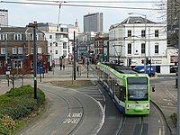 Tram at Reeves Corner, Croydon - geograph.org.uk - 1238898.jpg