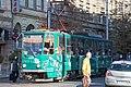 Tram in Sofia near Central mineral bath 2012 PD 066.jpg