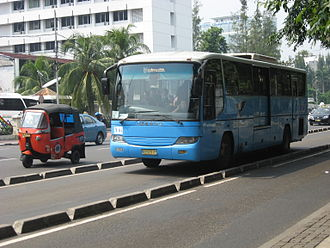 Institute for Transportation and Development Policy - A TransJakarta bus serving Corridor 2 (Harmoni-Pulo Gadung).
