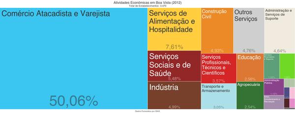Atividades econômicas em Boa Vista - (2012)[47]