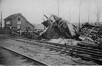 Rosmalen train accident - Image: Trein ongeluk Rosmalen 1920 (3)