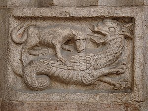 Wyvern - Image: Trento cathedral relief with wyvern