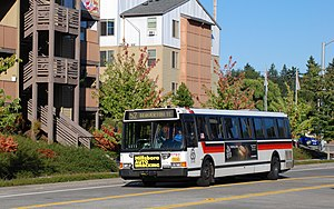 A 40-foot (12 m) Flxible-built bus of TriMet, ...