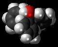 Triphenylmethanol molecule spacefill.png