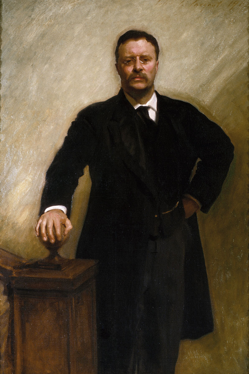 Portrait painting of Theodore Roosevelt