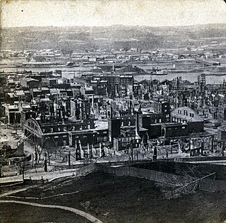 History of Troy, New York - Image: Troy, NY A Fter the fire of 1862