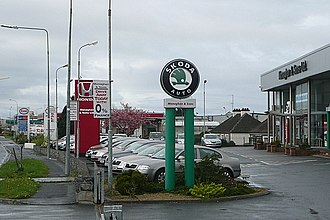 Auto row - Multiple dealerships in Galway, Ireland.
