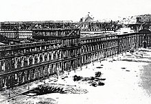 Tuileries Palace in 1871 after the burning during the fights of the Commune de Paris.jpg