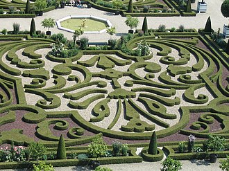 """Buitenplaats - Detail of the garden of Het Loo Palace today, an 18th century show-garden in the popular """"French style"""""""