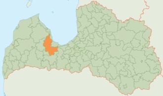 Tukums Municipality - Image: Tukuma novada karte