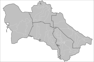 Districts of Turkmenistan sub-provincial administrative division of Turkmenistan