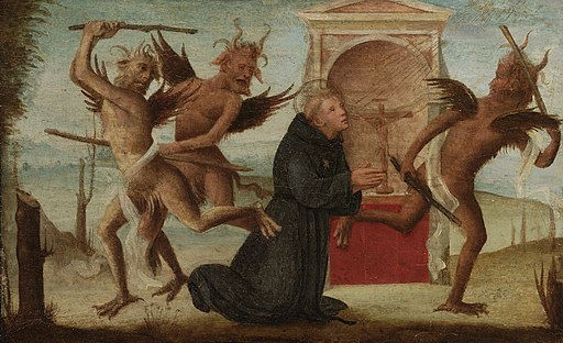 Tuscan School - The Temptation of Saint Nicholas of Tolentino