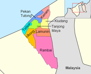 Tutong District - Mukims of Tutong district