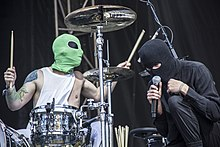 Twenty One Pilots performing live in 2014 for