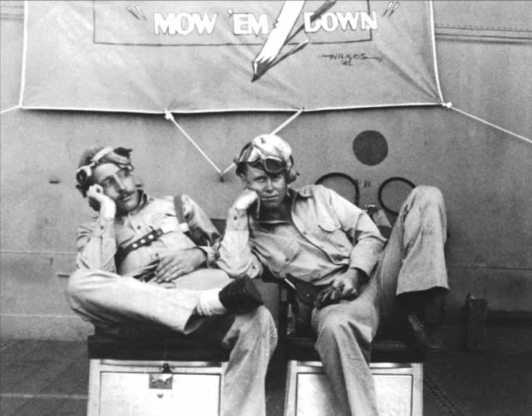 File:Two VF-10 pilots on USS Enterprise (CV-6) 1942.jpg