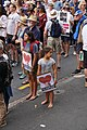Two young girls with signs at the Stand Against Racism protest in Auckland city, Sunday 24 March 2019.jpg