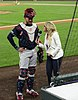 Tyler Flowers and Kelsey Wingert after a game vs the Rockies e at Coors Field - 2.jpg