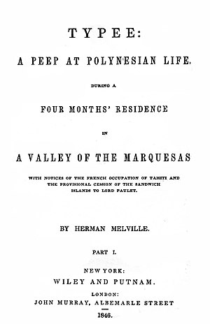 Typee - First American edition title page