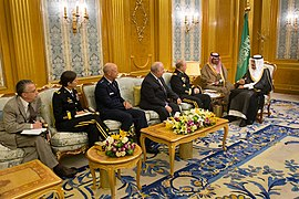U.S. Army Gen. Martin E. Dempsey, chairman of the Joint Chiefs of Staff, meets with Saudi Crown Prince Salman bin Abdulaziz Al Saud at the Royal Court in Jeddah, Saudi Arabia, June 2, 2014 140602-D-VO565-008a.jpg