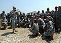 U.S. Army Lt. Gen. Ken Keen, commander of Joint Task Force - Haiti, addresses U.S. Airmen assigned to the 24th Air Expeditionary Group in Port-au-Prince, Haiti, March 15, 2010 100315-N-HX866-004.jpg