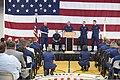 U.S. Coast Guard Adm. Robert J. Papp Jr., background left, commandant of the Coast Guard, speaks to Coast Guardsmen during a visit to Alameda, Calif., April 25, 2013 130425-G-VG516-017.jpg