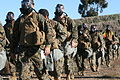 U.S. Marines with Headquarters and Headquarters Squadron march in formation during a 5.3 mile conditioning hike from 3rd Marine Aircraft Wing Mask Exercise Chamber in East Miramar to Mills Park at Marine Corps 111209-M-KY460-053.jpg