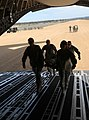 U.S. Soldiers with the 801st Combat Support Hospital rehearse loading a casualty aboard a C-17 Globemaster III cargo plane as part of the Army Reserve Warrior Exercise at Fort Hunter Liggett, Calif., March 19 130319-A-VX503-301.jpg