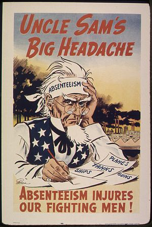 UNCLE SAM'S BIG HEADACHE. ABSENTEEISM INJURES ...