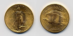 Hard money (policy) - The 1924 Double Eagle, Saint Gaudens' design