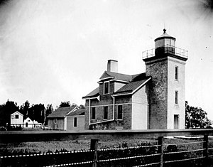 Peninsula Point Light - U.S. Coast Guard Archive Photo