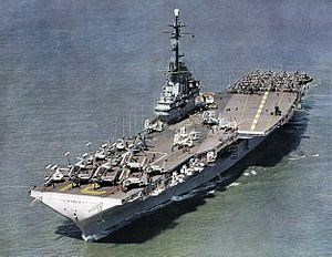 USS Bon Homme Richard (CVA-31) underway c1956
