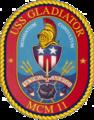 USS Gladiator MCM-11 Crest.png