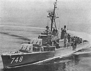 USS Harry E. Hubbard (DD-748) underway at sea in 1966