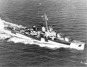 USS J. William Ditter - USS J. William Ditter (DM-31), January 1945