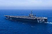 USS John C. Stennis (CVN-74) underway in the Pacific Ocean in April 2014