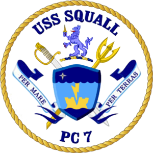 USS Squall - Image: USS Squall PC 7 Crest