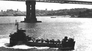 USS St. Francis River (LSMR-525) - Image: USS St. Francis River (LSMR 525) underway c 1966